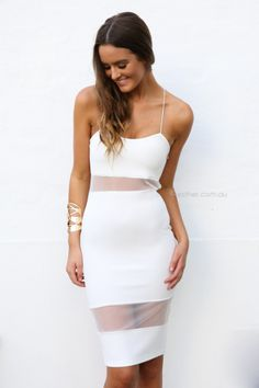 Short white lace dress with flared skirt. #HMDIVIDED | DIVIDED ...