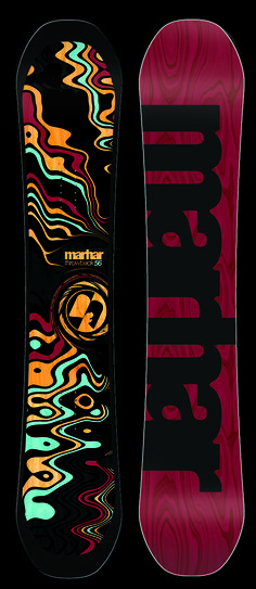 THROWBACK [All Mountain Leader] featuring our Award Winning rocker, the Throwback is a balanced deck that can shred equally in the park and all over the mountain. It has power, stability, and pop with the perfect amount of flex. The Attack Arc creates superb edge hold for laying into carves. The BAMBOO DNA and Carbon boosts off kickers with style, yet is soft enough to hit the park. #marhar #snowboard #snowboarding #madeinusa #graphic #design #deck #ride #sport #handcrafted #michigan