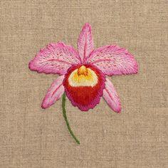 Orchid HeleneHand Towel - Natural Linen – Henry Handwork