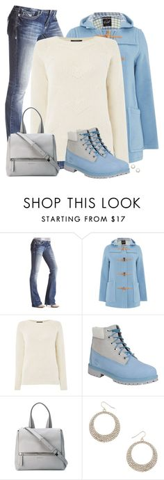 """""""Ice Blue Coat"""" by cnh92 ❤ liked on Polyvore featuring Gloverall, Therapy, Timberland, Givenchy, Dorothy Perkins, women's clothing, women, female, woman and misses"""