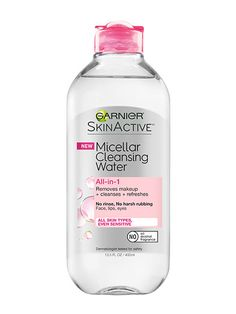 SKIN Makeup artists and models rely on micellar waters to remove stubborn makeup in a couple of swipes—all without water (and without scraping off a layer of skin). Just squirt a little on a cotton pad and swipe—no sink required. This one also comes in a bi-phase formula that removes even the most tenacious waterproof makeup.