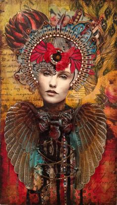 """""""All Her paths are peace"""" She has been looking for us...and perhaps we have been looking for her too. - Art by Andrea-Matus-deMeng-Cynara"""