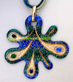 Handpainted by Jocelyne Blossier Gavory 🇫🇷 on 0068 - Splatch by Bijoux de Passy Pendant Design, Cool Paintings, Diy Clay, Clay Projects, Clay Art, Diy Jewelry, Alphabet, Polymer Clay, Creations