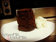 Tangy Chocolate Spice Cake in a Cup | A Pinch of This & A Dash of That