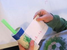 Making our own measuring tapes by Teach Preschool