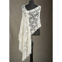 Rozetti Laurel Crocheted Wrap. Top 10 FREE crochet shawls patterns by The Lavender Chair.