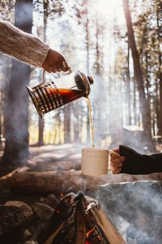 Yes! French press camping coffee... The best.