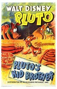 """Pluto's Kid Brother"" Disney Cartoon short movie poster"