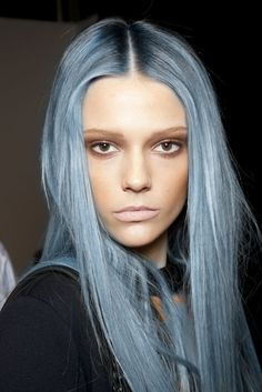 PRETTY WITH PASTEL LOCKS GORGEOUS SHADE OF BLUE!! WILL BE BEAUTIFUL IN THE FALL TOO!