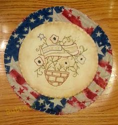 Ready to Ship Primitive Americana Candle Mat