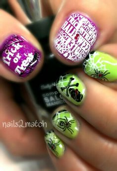 #haloween     Halloween nails #nailart #nails