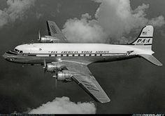 Aviation Photo Douglas - Pan American World Airways - PAA Boeing Aircraft, Passenger Aircraft, Douglas Dc 4, Mcdonald Douglas, Douglas Aircraft, Old Planes, International Airlines, Pan Am, Air Festival