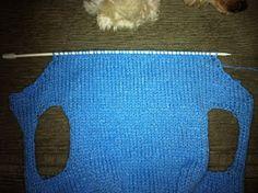 Koisas da Kaká: PAP - Roupinha para cachorro Knitted Dog Sweater Pattern, Dog Coat Pattern, Knit Dog Sweater, Dog Sweaters, Dog Clothes Patterns, Coat Patterns, Diy Dog Collar, Knit Baby Booties, Crochet Flower Patterns