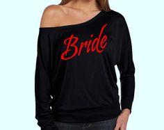 Bride Print Slouchy off Shoulder Black Dolman  Bride by AMBridal, $23.99