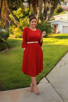 How cute is our Meredith dress? ❤️ Available now at www.theskirtsociety.com.