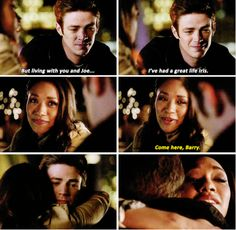 """Living with you and Joe... I've had a great life Iris"" - Barry and Iris #TheFlash"