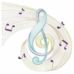 Rippled Music Notes 9 - 3 Sizes!   Music   Machine Embroidery Designs   SWAKembroidery.com Ace Points Embroidery
