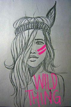 wild woman sketches - Google Search