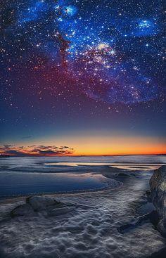 Star burst | sky | | night sky | | nature | | amazingnature | #nature #amazingnature https://biopop.com/