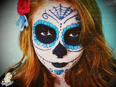 Tutorial: Maquiagem de Caveira Mexicana para o Halloween   Link Vídeo: https://www.youtube.com/watch?v=hClFvlbbdwM  POST: http://cakegloss.blogspot.com.br/2014/10/tutorial-maquiagem-de-caveira-mexicana.html