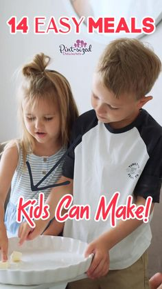 Check out these 14 Easy meals kids can make to help get your kids in the kitchen! #cookingwithkids #easymeals Kid Meals, Quick Meals, All Family, Lunch Snacks, Cooking With Kids, Learn To Cook, Parenting Hacks, Kids Learning, New Recipes