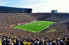 Say that you've attended a football game with the largest crowd in the world! #GoBlue