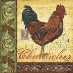 Retro Rooster 2 by Debbie DeWitt - Retro Rooster 2 Painting - Retro Rooster 2 Fine Art Prints and Posters for Sale Animal Paintings, Paintings For Sale, Rooster Images, Chicken Bird, Country Chicken, Chicken Illustration, Chickens And Roosters, Country Paintings, Background Vintage