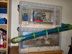 DIY double-decker bin cage