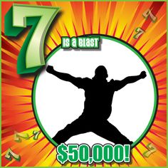 """I think Michael Crownover of #Keokuk would agree that the """"7 is a Blast"""" scratch game really is a blast. He just claimed one of the game's $50,000 top prizes! Michael bought his winning ticket at his local Murphy USA at 3450 Main St. #WooHooForYou"""