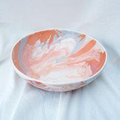 Marble Serving Bowl Ceramic Bowls, Stoneware, Contemporary Ceramics, Terracotta, Serving Bowls, Marble, Porcelain, Pottery, Plates