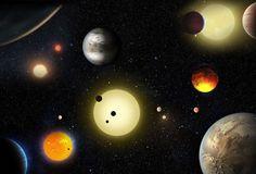 Sur les désormais 3.409 exoplanètes découvertes, 2.325 l'ont été par le satellite Kepler de la Nasa. Ici, une illustration de la pluralité des mondes. © Nasa Ames, W. Stenzel