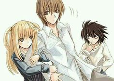 Death Note : Misa, Light and L