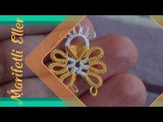 Mekik Oyası Dolgulu Çok Hoş Bir Modelin Yapılışı - YouTube Tatting Jewelry, Needle Tatting, Tatting Patterns, Filet Crochet, Gold Rings, Crochet Earrings, Embroidery, Crafts, Youtube