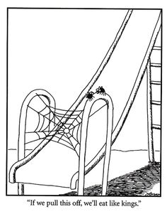 The Far Side. Still one of the best comic strips ever The Far Side. Still one of the best comic strips ever Far Side Cartoons, Far Side Comics, Funny Cartoons, Cartoon Jokes, Cartoon Fun, Funny Posters, Cartoon Images, Haha Funny, Funny Jokes