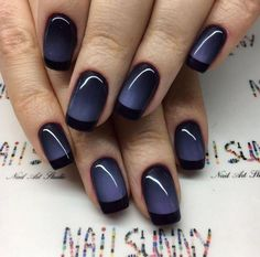 Beautiful black to purple ombre