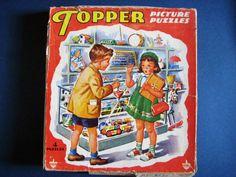 Topper vintage children's puzzles 1950's