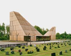 oslo-based arhitect espen surnevik has completed the design of the new våler church in the norwegian county of hedmark.