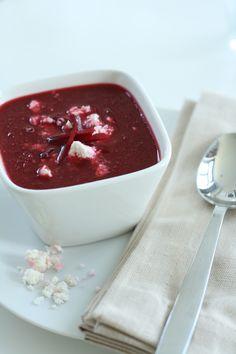 Beetroot Soup 2:  minus the feta