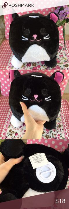 Big fluffy kitty cat piggy bank with noise Super adorable and big kitty cat Plush piggy bank. Brand new. If you put a coin in it, it meows! It's so cute and soft. It's just too cute. Let me know if you want anything else. I combine shipping in bundles to save money! Other