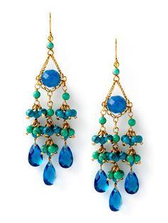 Blue Chandelier Earrings by Rachel Reinhardt.  Originally $165.  Sale $58.