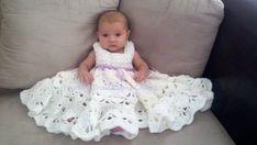 Custom order baby girl hand crochet Christening gown by srcorcoran, $46.00