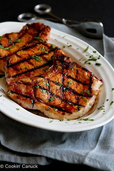 ... Grilled Pork Chops with Garlic Lime Sauce | Grilled Pork Chops, Pork