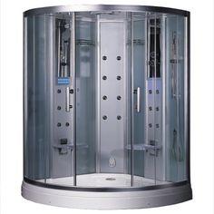 """Ariel Bath Platinum 59"""" x 59"""" x 88.6"""" Neo-Angle Door Steam Shower"""
