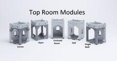 Room modules Lego castles