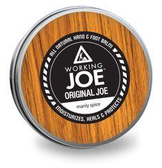Working Joe Original Joe - All natural hand & foot balm. Animals For Kids, The Balm, Moisturizer, Skin Care, The Originals, Michigan, Spice, How To Make, Natural