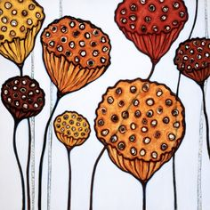 I love a lotus pod.  This is by Adelaide artist Megan O'Hara