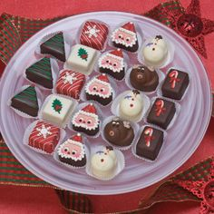 Christmas Cookies -- Petits Fours Tea Cakes