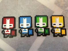 -Perler- Castle Crashers (Group) by OtakuLuka.deviantart.com on @deviantART