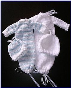 Knitting Patterns Sack Ravelry: Sleeper Sack (burial gown for preemies) pattern by Debbie Cowherd Knitting For Charity, Knitting For Kids, Baby Knitting Patterns, Baby Patterns, Free Knitting, Preemie Crochet, Knit Or Crochet, Crochet Baby, Little Girls