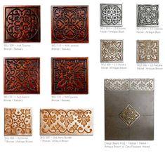 Firenze metal tiles from Metaphor Bronze